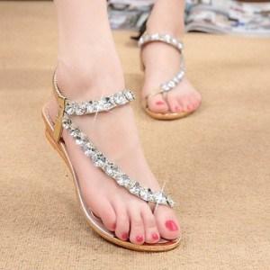 sandale-plate-strass