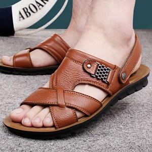 mode-sandale-cuir-homme