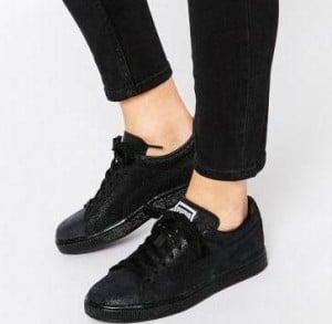 Acheter une paire de basket noire pour femme | MA