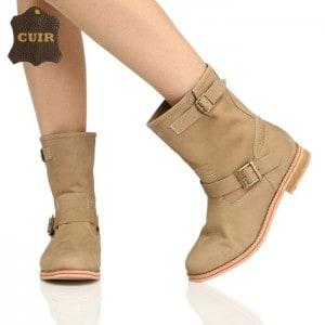 mode-boots-daim-femme