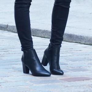 modele-bottine-noire-pour-femme